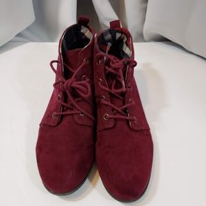 Forever 21 Suede Laced Booties Size 10